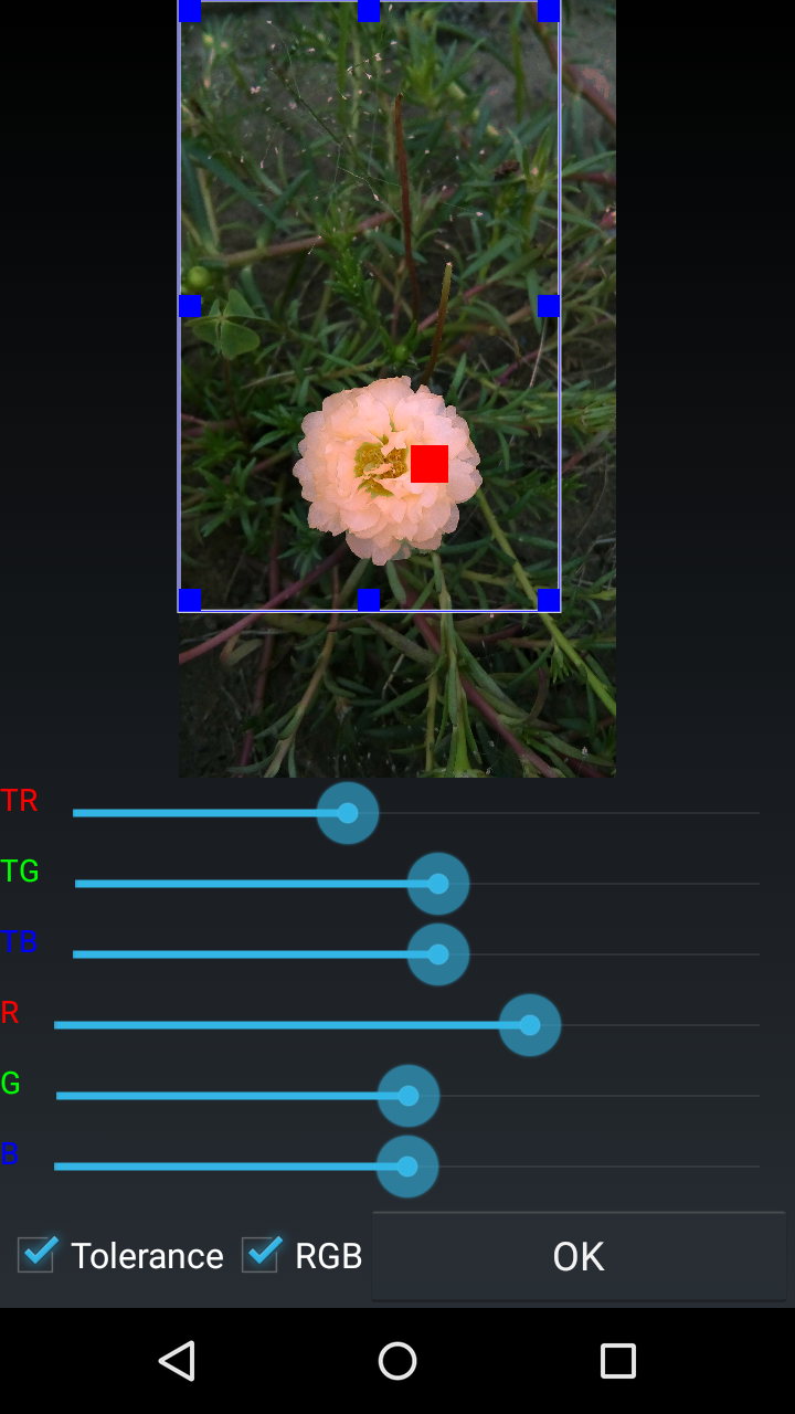 AndCamera adjust the color of a object, control