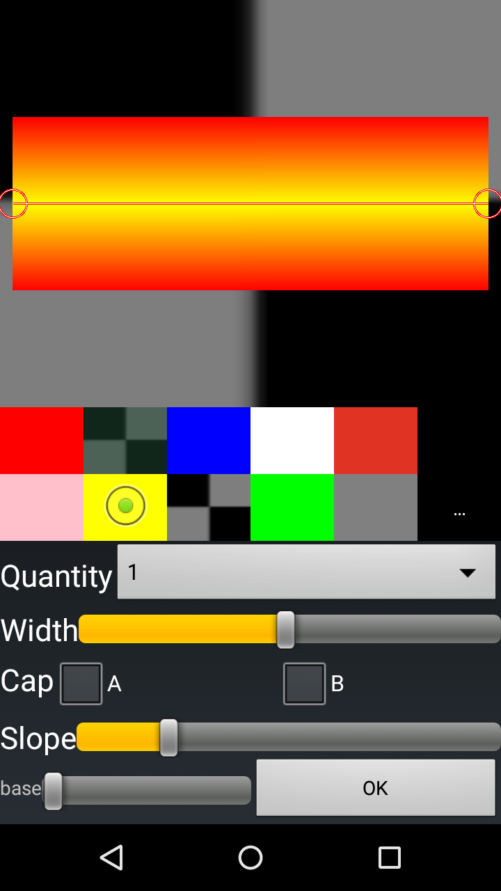 AndCamera photo editor gradient filling